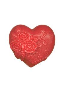 Rose Fantasy - Heart in love piros dekoratív glicerines szappan