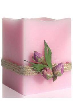 Rózsaszirom illatú gyertya