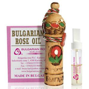 Bulgarian Rose 100% Rózsaolaj - 1g Díszes Fa Fiolában