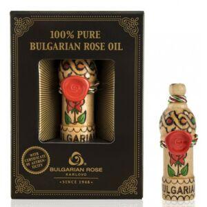 Bulgarian Rose 100% Rózsaolaj Díszdobozban Fa Fiolában - 0,5ml