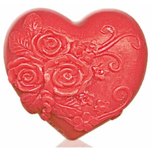 Bulgarian Rose Rose Fantasy - Heart in love piros dekoratív glicerines szappan