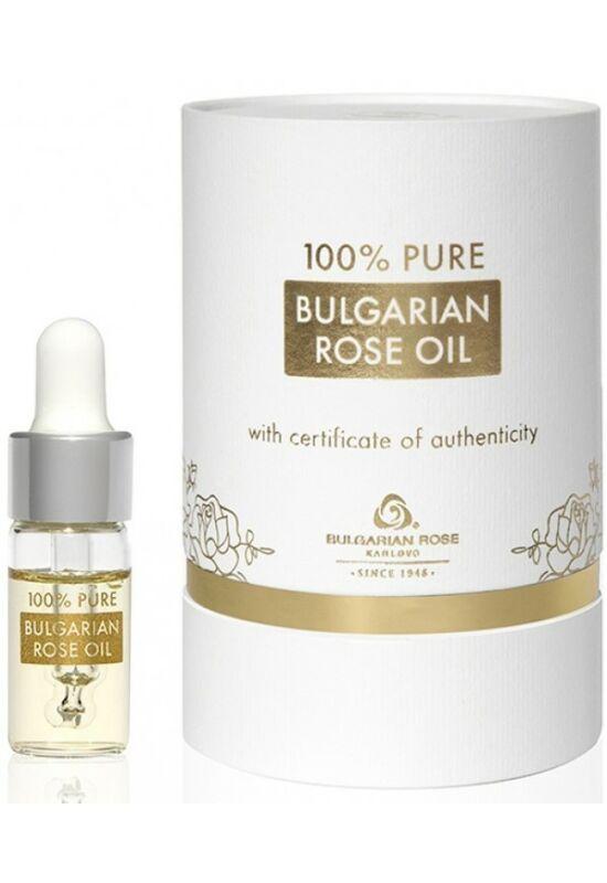 Bulgarian Rose 100% Rózsaolaj - Luxus Fehér Dobozban 3ml