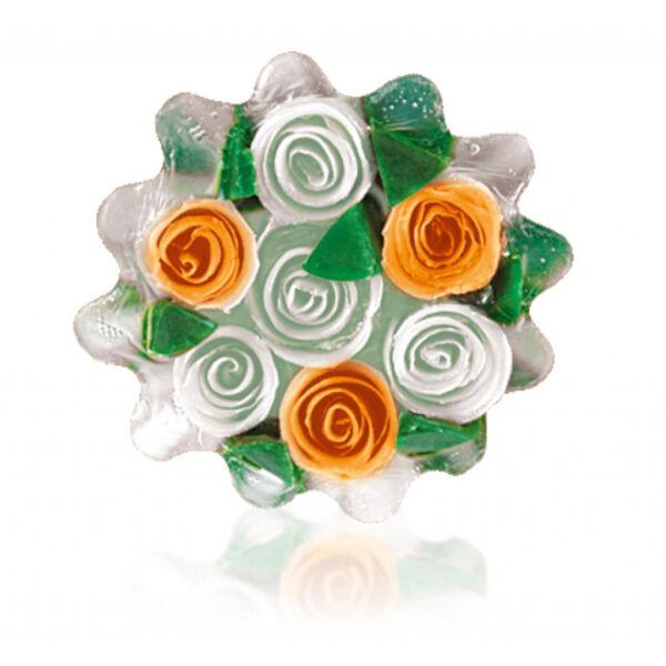 Rose Fantasy - Kosár fehér-narancs